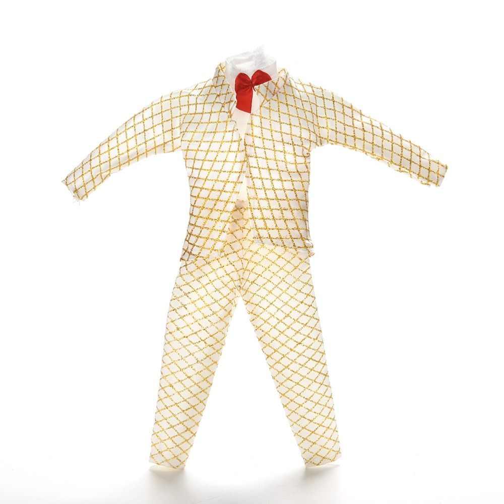 1 Juego de ropa hecha a mano para muñeca traje dorado para muñecas accesorios para muñecas masculinas Prince