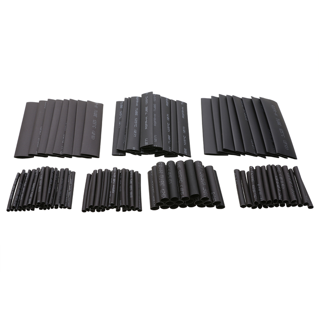 127pcs/lot Assorted Heat Shrink Tube Wire Wrap Electrical Insulation Cable Sleeving 2-13mm Polyolefin Set Kits