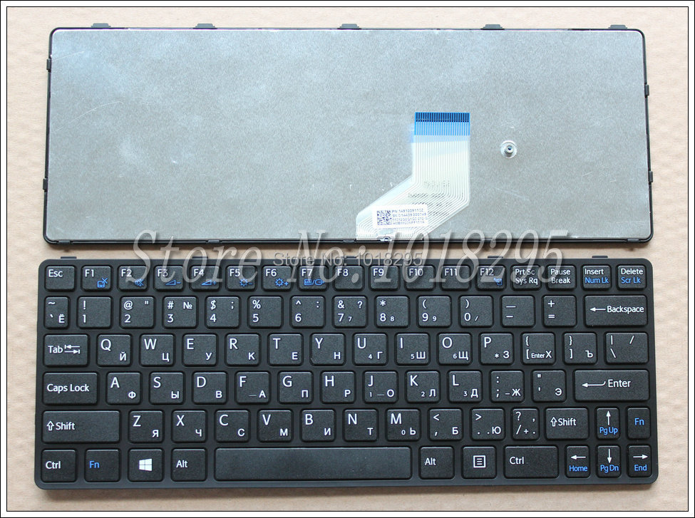Keyboard for SONY VAIO SVE11 sve1111M1E sve1111M1R sve1112M1E Laptop Russian RU Layout Black With Frame