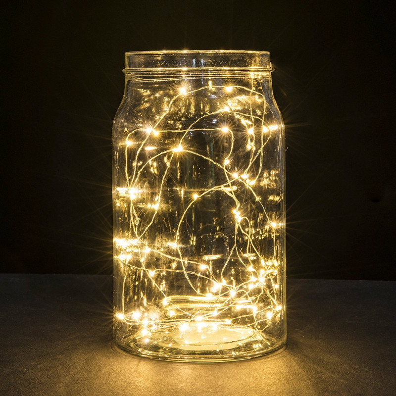 LED Starry String Lights Fairy Micro LEDs Copper Wire Battery Holiday Wedding Light Christmas Party Decoration Home Garden Decor