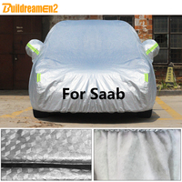 Buildremen2 Thick Car Cover Waterproof Outdoor Sun Shade Snow Rain Hail Protection Cotton Cover For Saab 9 3 9 5 9 2X 9 7X 9000