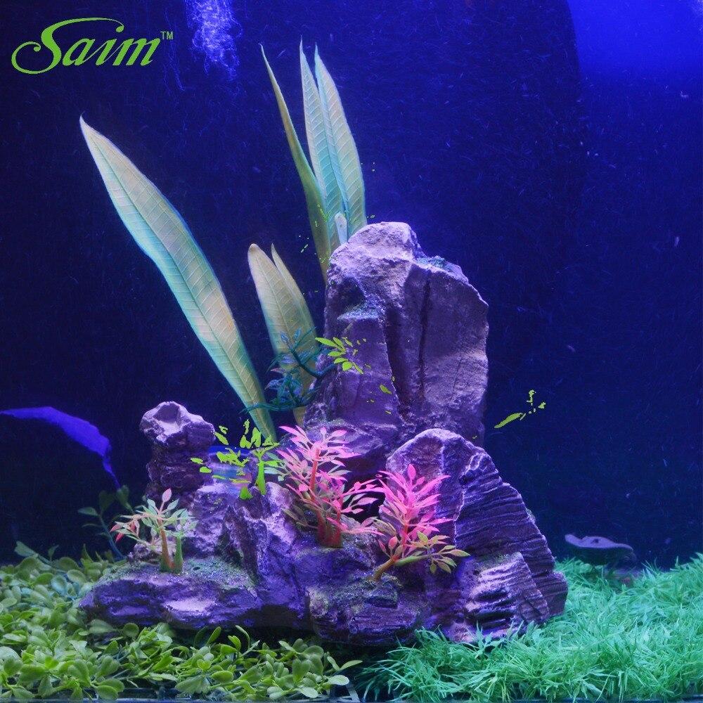 Aquarium décoratif réservoir de poissons pierres 2019 nouvelle artificielle montagne résine Rockery décoration accessoires fournitures B0000030647