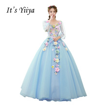 Free Shipping Plus Size Wedding Dresses Vestidos De Novia Purple Light Blue Pink Ivory Ball Gowns Appliques Bridal Frocks MHL004