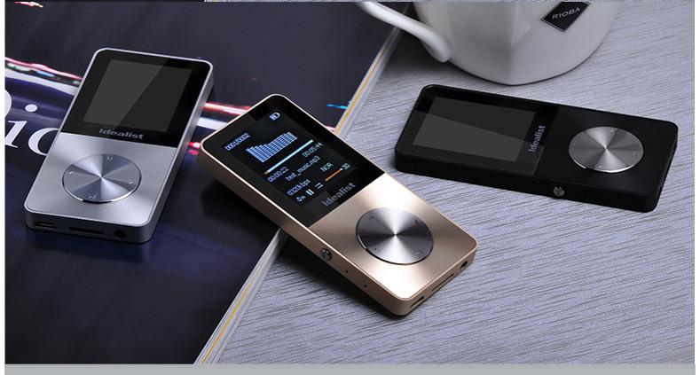 Brand Idealist Metal MP3 MP4 Player 4GB/8GB/16GB Video Sport MP4 Flash HIFI Slim MP4 Video Player Radio Recorder Walkman Speaker 9