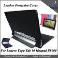Yoga tablet 10 B8000 стильный кожаный чехол, высокое качество PU Кожаный защитный чехол для lenovo Yoga tablet 10 B8000