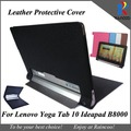 Yoga tablet 10 B8000 stylish leather cover,top quality PU Leather protective case for lenovo Yoga tablet 10  B8000