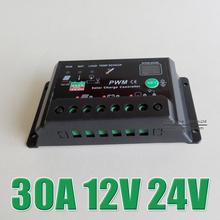 Hot Sale 30A 12V 24V Auto Solar system Battery Charge battery Controller regulator with timer