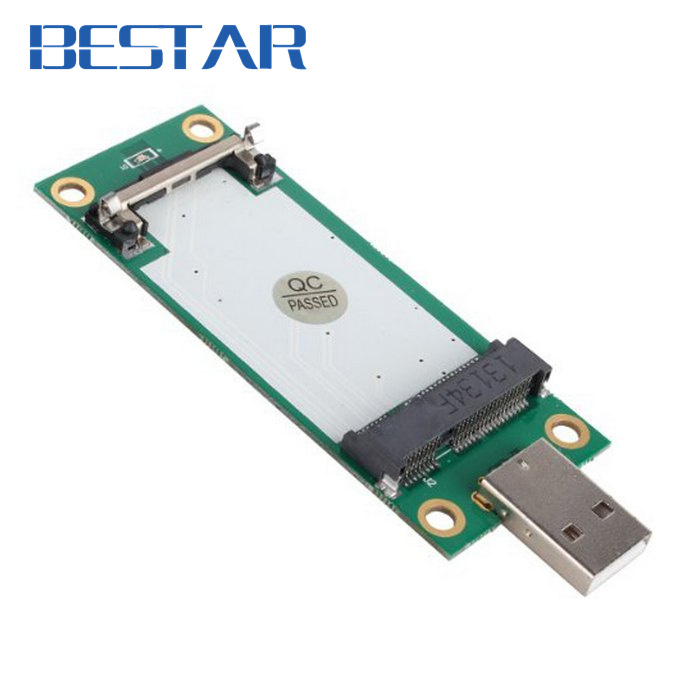 Mini PCI-Express pcie pci express PCI-E Wireless WWAN to USB Adapter Card with SIM Card Slot Module Testing Tools pci express to 2x pci adapter card green black