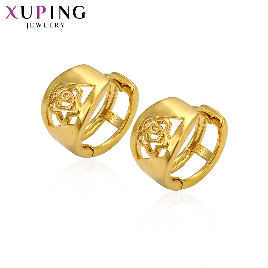 Xuping Edle Hohl Blumen Ohrringe Reinem Gold Farbe Überzogen Modeschmuck Für Frauen Weihnachten Tag Geschenke S63 Creolen Ohrringe 3-93757 Bestellungen Sind Willkommen.