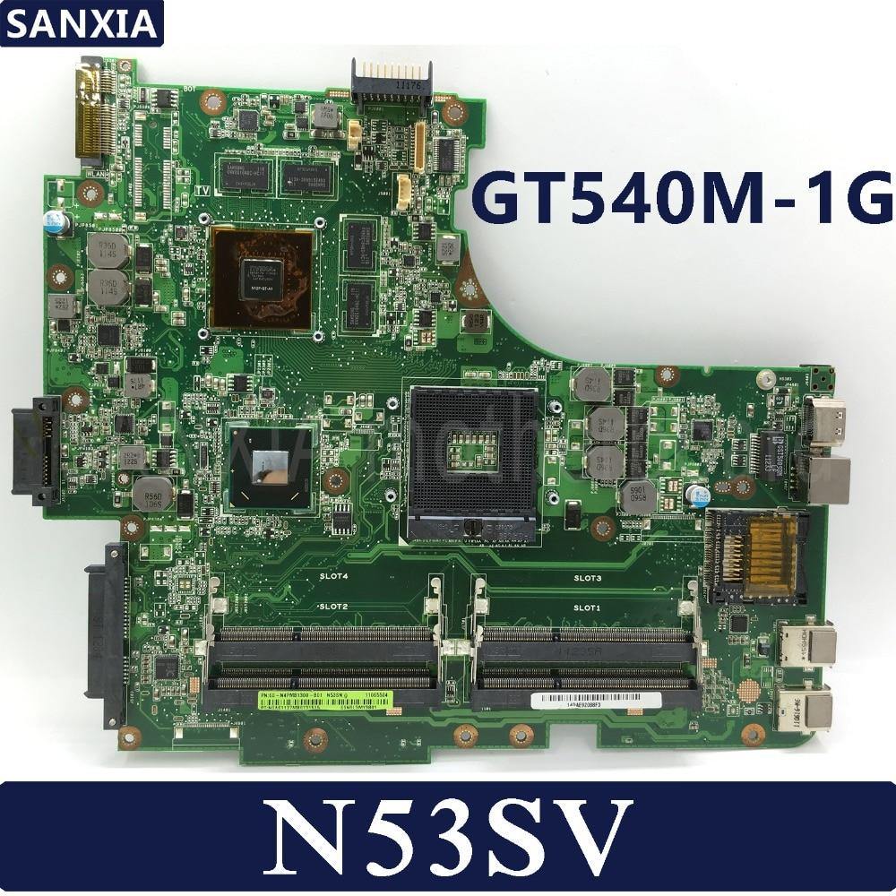 KEFU N53SV Laptop Motherboard For ASUS N53SV N53SN N53SM Original Mainboard GT540M-1GB