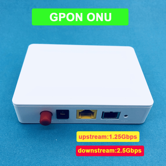 1pcs Free Shipping GPON ONU FTTO 1GE GPON 1port FTTH ONU ONT Single LAN Port OLT 1.25G Gpon ZTE Chipset Fiber to home FTTB
