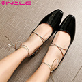 VINLLE 2017 Woman Pumps Western Style Med  Heel Spring Autumn Lace Up Shoes Women Square Toe Elegant Wedding Shoes Size 34-43