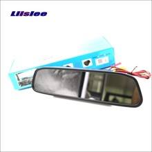Liislee For Chevy Chevrolet Aveo / Captiva / Epica Rearview Mirror Car Monitor Screen Display / HD TFT LCD NTSC PAL TV System