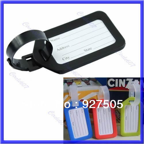 Hot 20pcs/lot Colorful Plastic Travel Luggage Suitcase Baggage Travelbag Address Label Tags