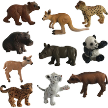 1pc Mini Animal Model Action Figure PVC Snake Panada Elephant Orangutan Lion Bear Ornaments Toys #E