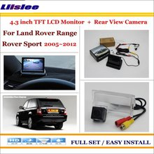 Car Rear Camera + 4.3 TFT LCD Screen Monitor = 2 in 1 Back Up Parking System - For Land Rover Range Rover Sport 2005~2012 2pcs 11 8 inch car rear seat entertainment video monitors for range rover 2017 headrest monitor android 7 1 system