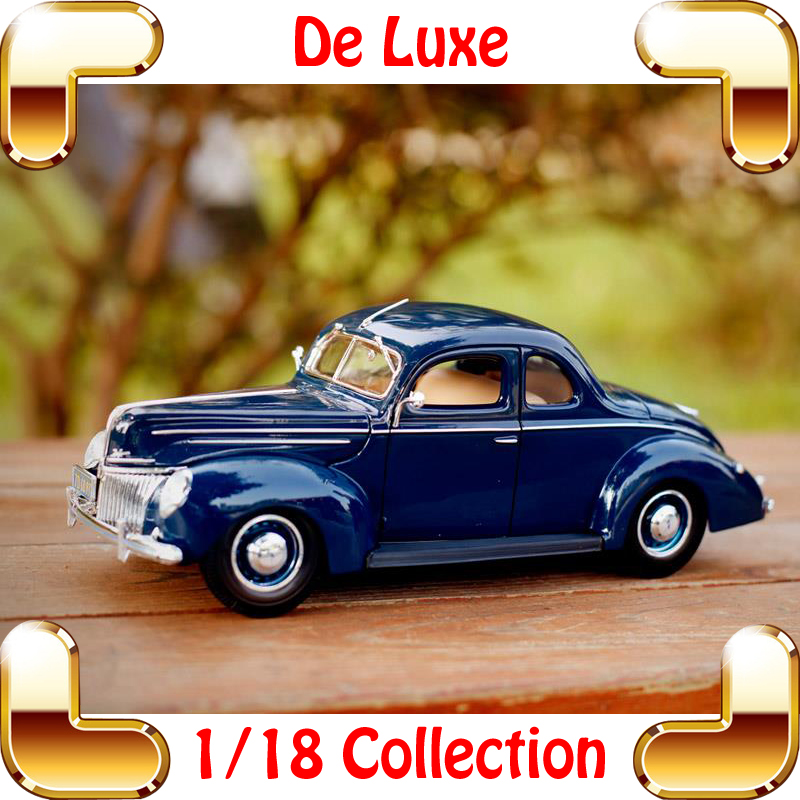 New Year Gift 1939 De Luxe 1/18 Classic Model Car Collection Metal Alloy Die-cast Decoration Static Cars Toy Dioramas стоимость