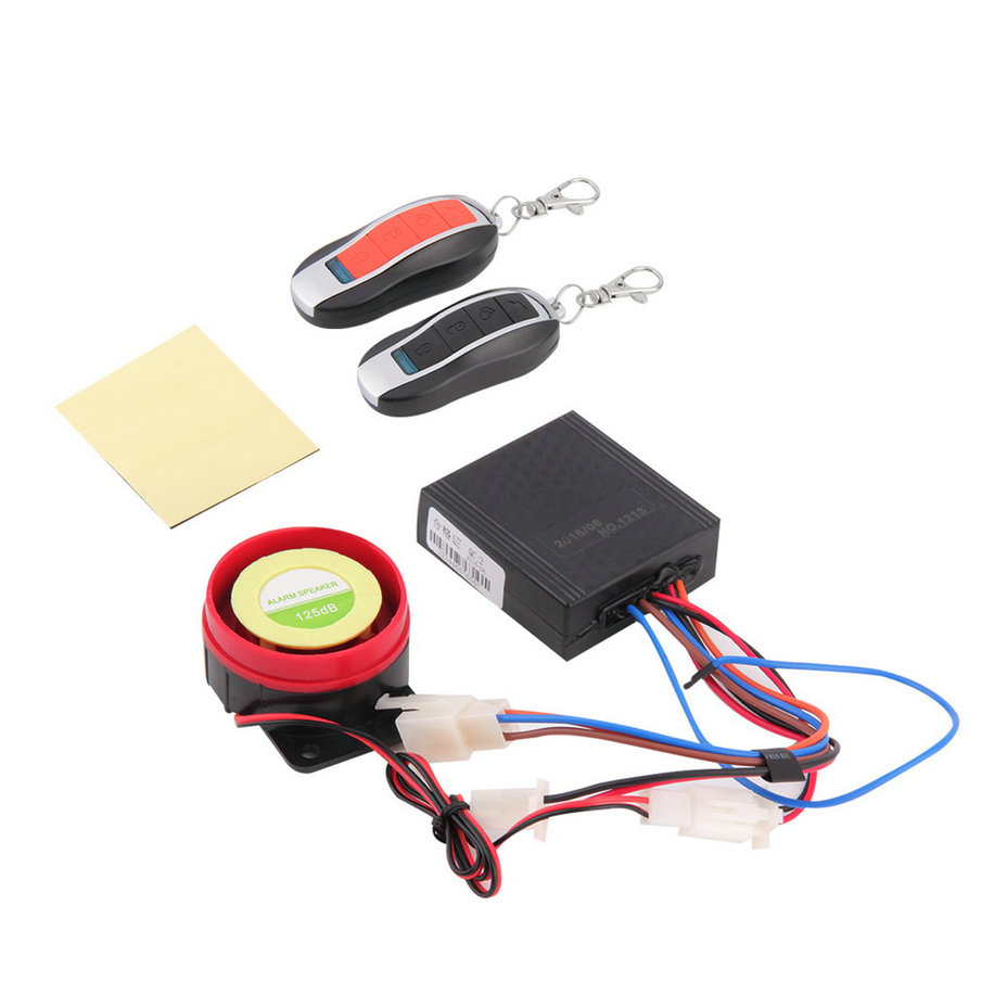 Waterproof Car Motorcycle Alarm System Anti-theft S