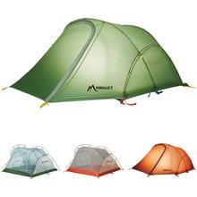 Открытый 2 человек палатка сверхлегкий двойной слой Водонепроницаемый Ветрозащитный Кемпинг палатка для рыбная ловля Пешие прогулки
