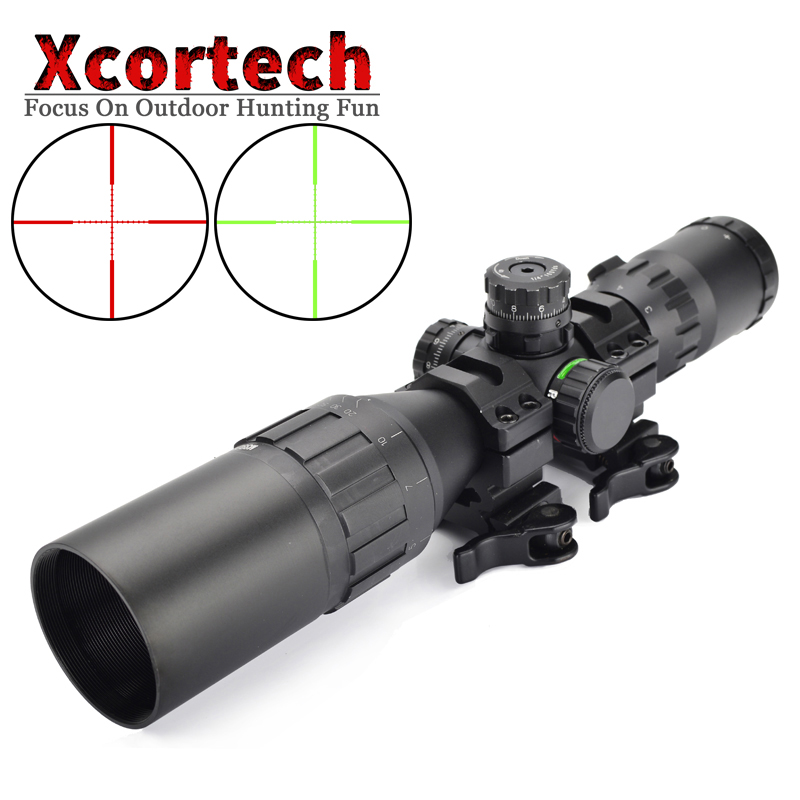 Hunting Tactical Optical 3-9x32 AO 1inch Tube Mil-dot Compact Riflescope With Sun Shade and QD Rings Rifle Scope leapers utg 3 9x32 aolmq compact mil dot reticle hunting optics riflescopes locking w sun shade