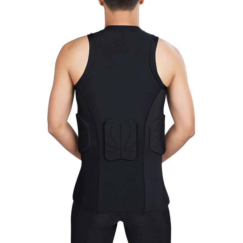 Kuangmi Men's Training Suit Running Soccer Training Tights Basketball Vest Protection crashproof Gym Sportswear Track Suits - 5