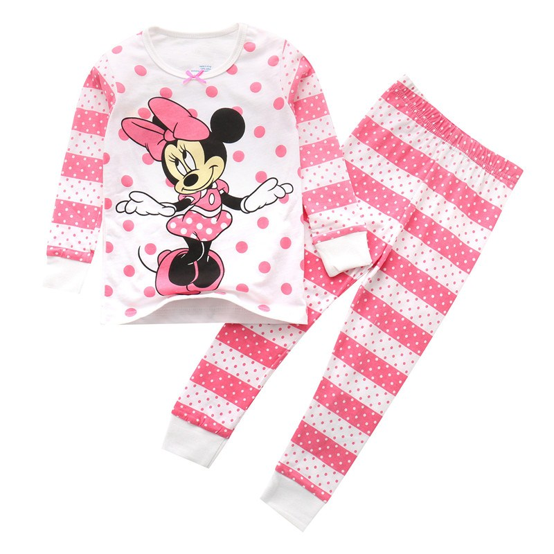 Top quality baby girls cartoon sets with printed a cute mouse kids new  designed striped spring a89b2f88934a