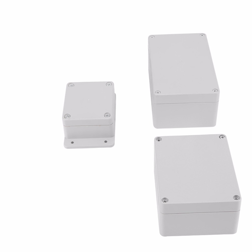 IP66 ABS Plastic Junction Box Electric Project Enclosure Gray 158x90x40mm