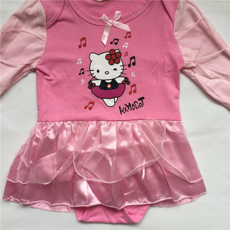 b0c0f2683 Girl Hellokitty romper Baby Girls Clothes Long Sleeve Dress Jumpsuit  Newborn Girls Clothing Pink Baby Infant Onesie Costume-in Rompers from  Mother & Kids on ...