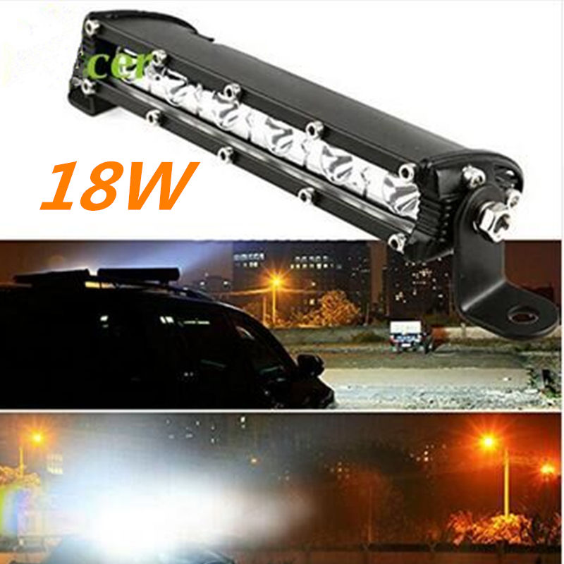 CarBole 8.7 inch 18W LED Single Row Work Light Bar Spot for OFFROAD DRIVING LAMP for SUV ATV led work light 18w цены