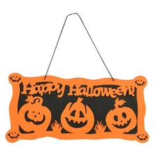 Halloween Decoration HAPPY HALLOWEEN Hanging Hangtag Window Pumpkin Strips