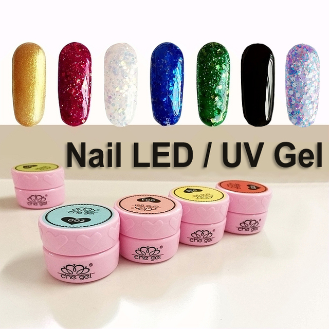 12pcs Che Soak Off Nail Art Led Uv Builder Gel Color Set Acrylic Painting