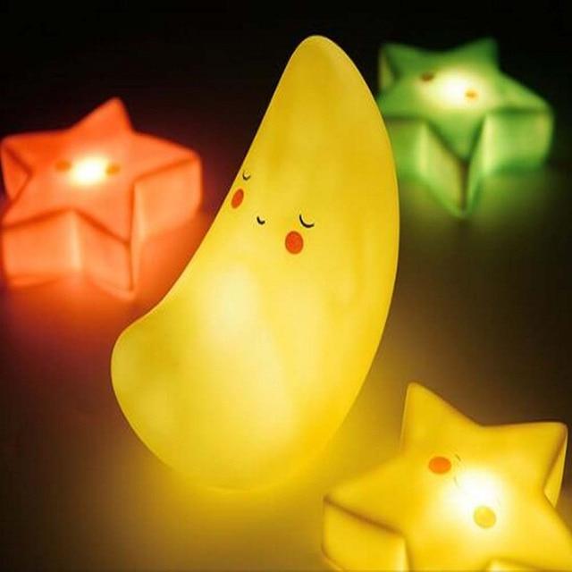 Cute Night Light Children Gift Sun Moon Star Luminaria Bedroom Nursery Mini  Lamps Kids Novelty Cloud