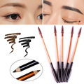 2Pcs/Lot Double Colors Makeup Enhancer Eyebrow Pencil Waterproof Long-lasting Brown Black Eye Brow Enhancer Tool Y1-5