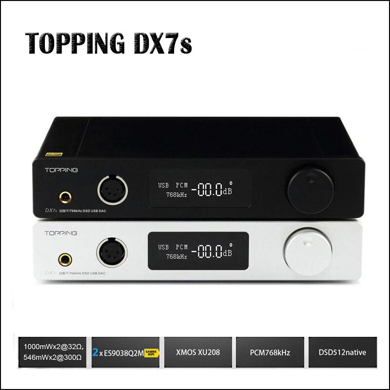 TOPPING DX7s Completa Balanced DAC Amplificatore Per Cuffie DAC USB ES9038Q2M Amp XMOS XU208 OPA1612 DSD512 Ottica di ingresso Coassiale