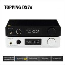 TOPPING DX7s Full Balanced DAC Headphone Amplifier USB DAC ES9038Q2M Amp XMOS XU208 OPA1612 DSD512 Optical Coaxial input new topping nx4 dsd xmos xu208 chip dac es9038q2m chip portable usb dac dsd decoder amplifier headphone amp amplifier