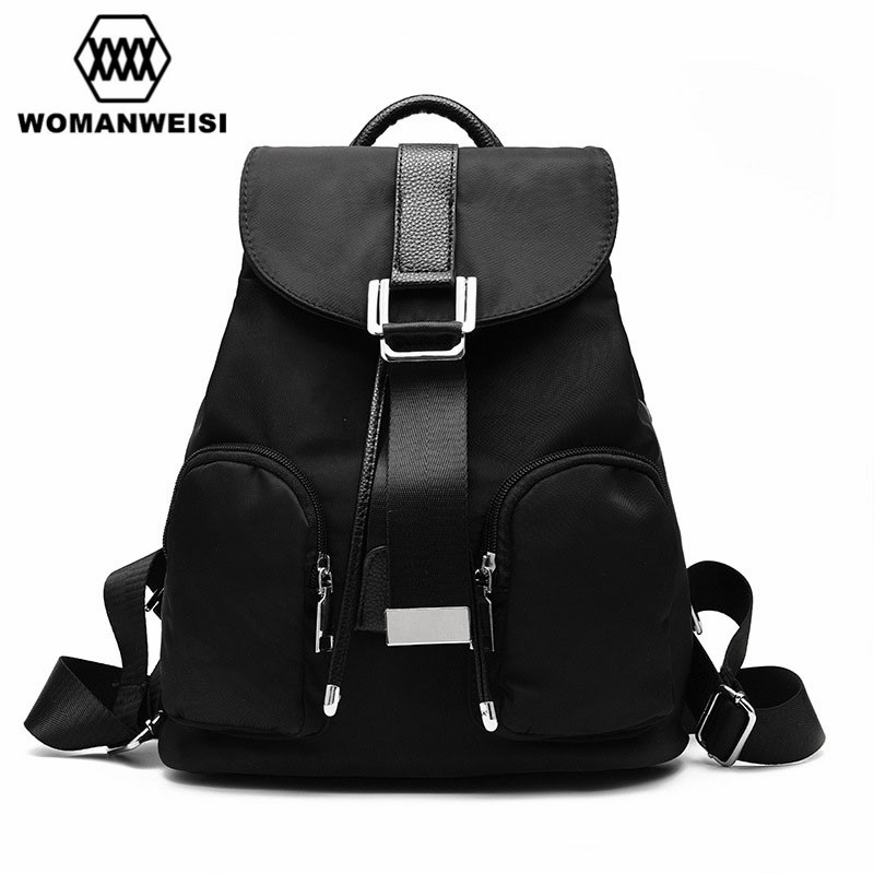 2018 New Design 3 Colors Oxford Fabric With PU Leather Shoulder Strap Women Backpacks Casual Korean Style School Bags For Girls korean style casual women s satchel with color matching and canvas design