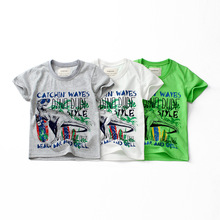 Boys Girls Summer T shirts Dinosaur Print Children Tops Cotton Shirts Baby Tees Clothing 2019 Kids Cartoon T shirts Clothes t shirts kids clothing tops boys girls toddler long sleeve baby cartoon children cotton summer print car machine tees