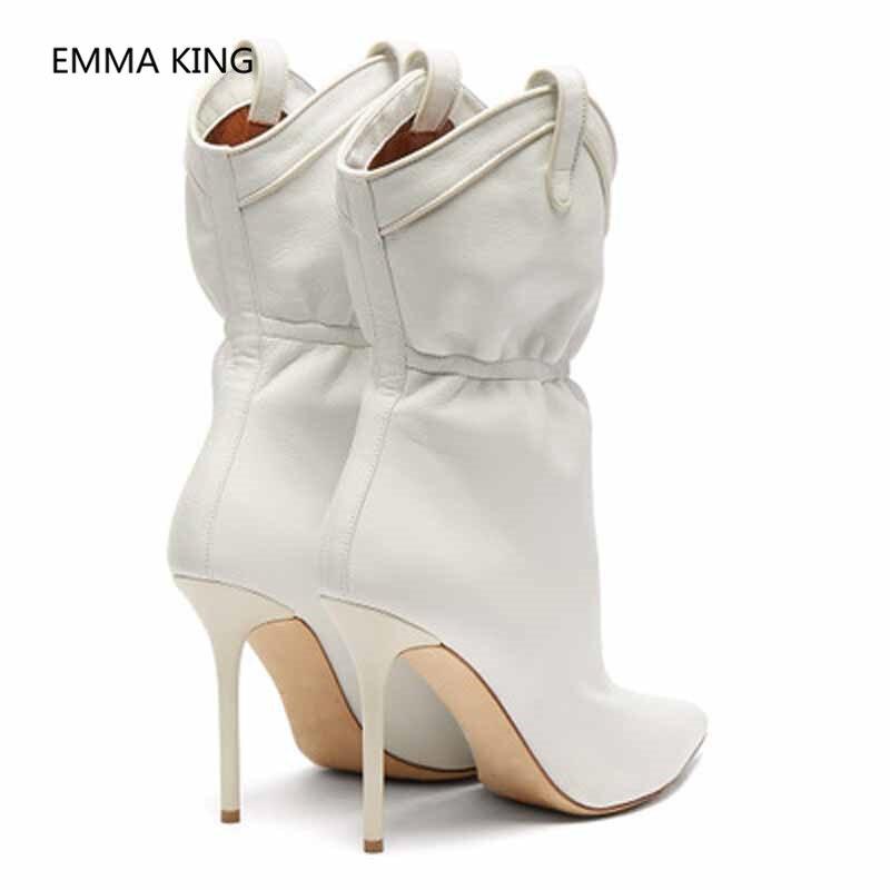 Pista Shown Las Invierno As Zapatos Mujeres Plisado Tobillo Botas q7Idfq