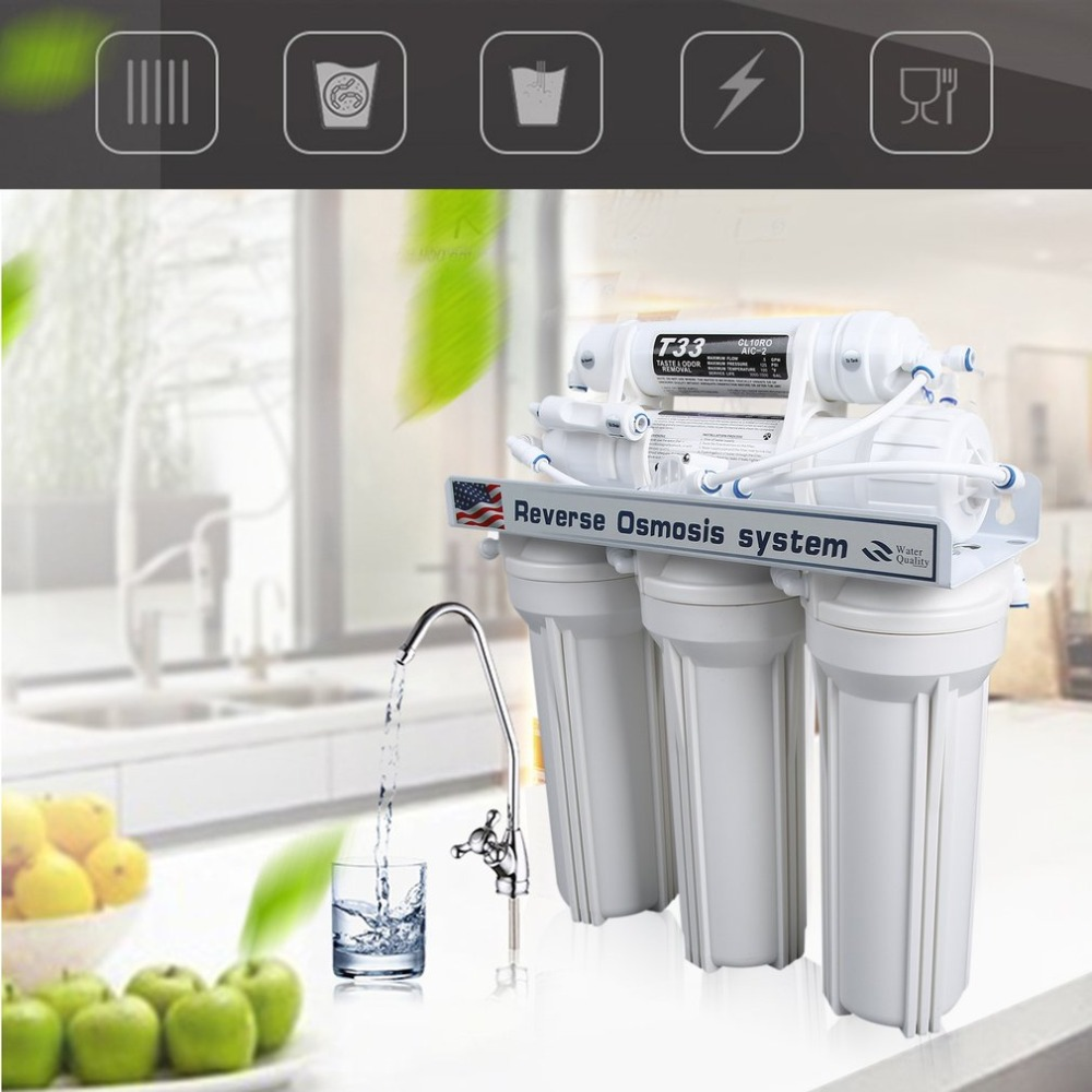 5 Stage Reverse Water System Drinking Water Filtration System Reverse Osmosis Water Machine Household Water Filter For Home Use
