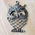 Ofertas, Bronze antigo acabado liga oco charme coruja para colar e pulseira fazer jóias
