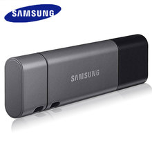 ذاكرة محمولة سامسونج DUO Plus USB 3.1 32GB 64GB 128GB 256GB نوع المعدن C ذاكرة عصا بندريف للهواتف الذكية الكمبيوتر اللوحي