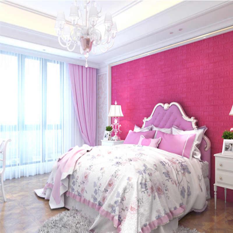 38*70 Cm DIY 3D Bata Dekorasi Rumah Stiker Dinding Ruang Tamu Kamar Tidur Dekorasi Busa Diri Perekat Wallpaper Art rumah Stiker Dinding