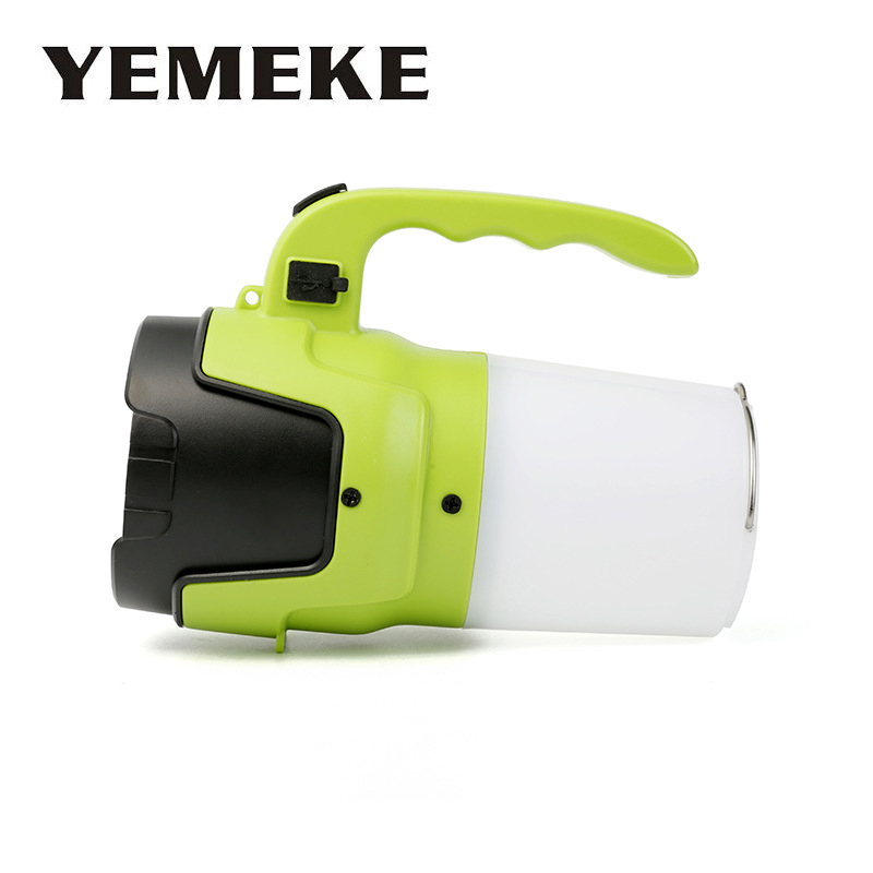 Led Flashlight USB Rechargeable 10W Green Working Light With Tail Lamp + Hook Portable Lantern Spotlight For Camping WorkingLed Flashlight USB Rechargeable 10W Green Working Light With Tail Lamp + Hook Portable Lantern Spotlight For Camping Working