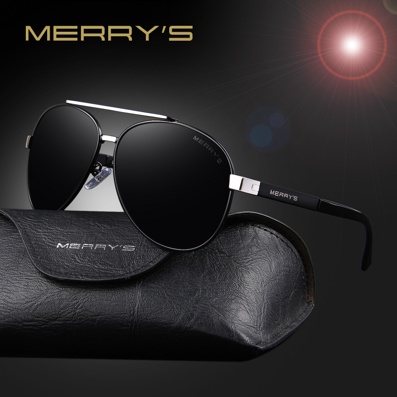 MERRY'S Men Classic Aviation Sunglasses HD Polarized Luxury Brand - Accesorios para la ropa - foto 3