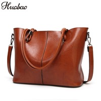 2018 Women Bag Leather Handbags Ladies Shoulder Messenger Bag High Quality Casual Female Bag Vintage Tote Top Handle Bags Bolsos