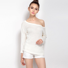 MUXU fall fashion sweater women sweaters and pullovers long sleeve knitted high quality chompa backless
