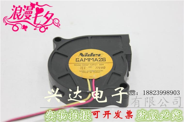 Оригинальный подлинный D05F-12PS1 06A DC12V 0.19A 5 см ультра-тихий вентилятор охлаждения