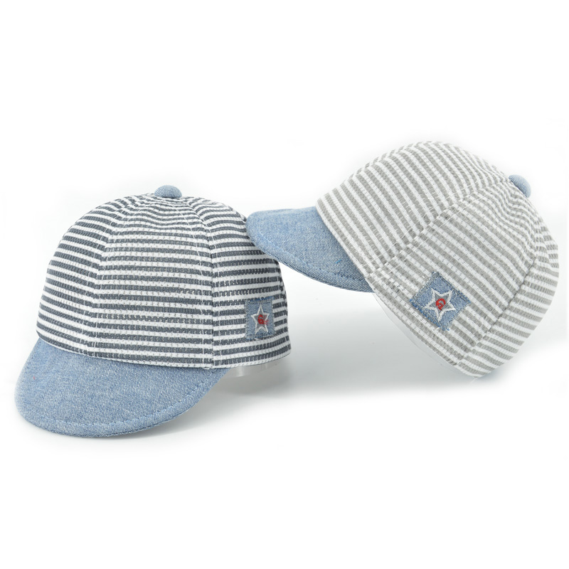 HPBBKD Cotton Infant Baby Hats Cute Casual Striped Soft Eaves Kids Baseball Cap Baby Boy Girls Sun Protect Hat Caps XH-031