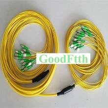 FC FC de tronc de cavalier de corde de correction de Fiber APC FC/APC FC/APC SM 12 noyaux de rupture 2.0mm GoodFtth 100 500 m