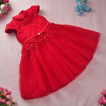 Free shipping New year Red Chinese Style costume baby Kid Child Girl Cheongsam Dress wedding Ball